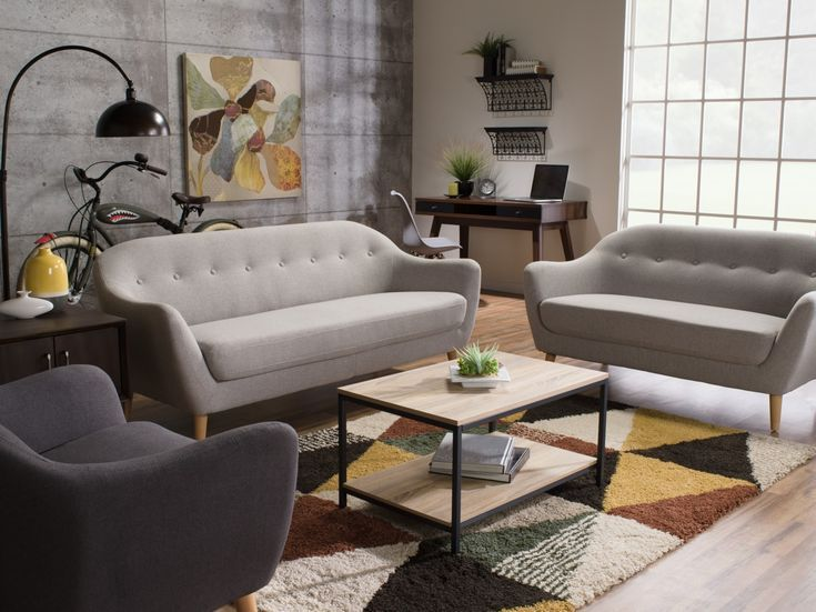 Sofa sectionnel courbé