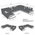 Sofa sectionnel de luxe en forme de U en San Antonio