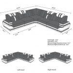 Sofa sectionnel design San Antonio en forme de L avec lampes à LED