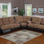 Sofa sectionnel en microfibre avec fauteuil inclinable