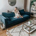 Sven Cascadia Blue Sofa