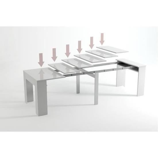 Table Console de salle à manger extensible jusqu'à 237 cm, Gris Foncé, Dimensions fermé : 90x50x78 cm de haut