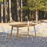 Table De Jardin En Bois De Teck 140 Pamoa - Taille : Taille Unique #ferientisch ...