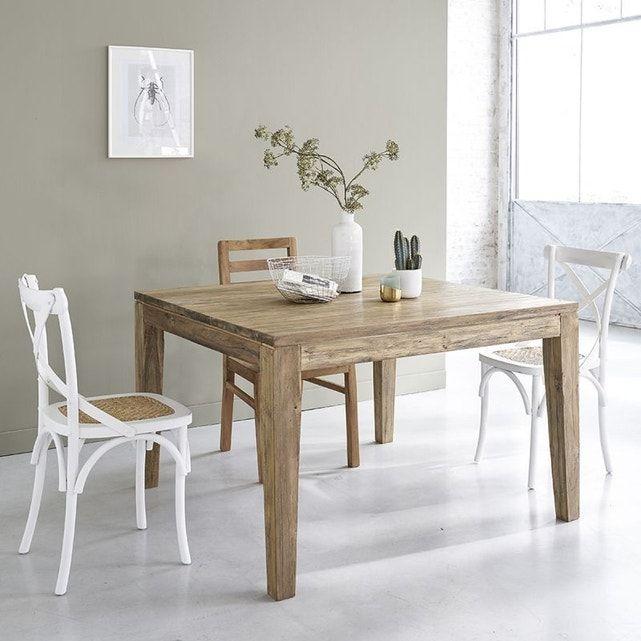 Table En Bois De Teck Recyclé Avec Rallonges 8 À 10 Couverts – Taille : 10 pers