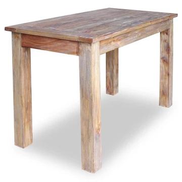 Table à Manger en Bois de récupération Massif Retro Look Chic Rustique 120x60x77 cm pour Le café, Le Petit déjeuner Cuisine, mobilier de Salle à Manger