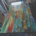 Table à manger en bois de récupération fait d'un millésime   Etsy