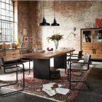Table à manger en bois massif Chêne Vieux Bassano différentes tailles »GONA«