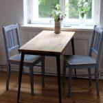 Table à manger étroite en bois massif, parfaite comme table de petit déjeuner dans ...