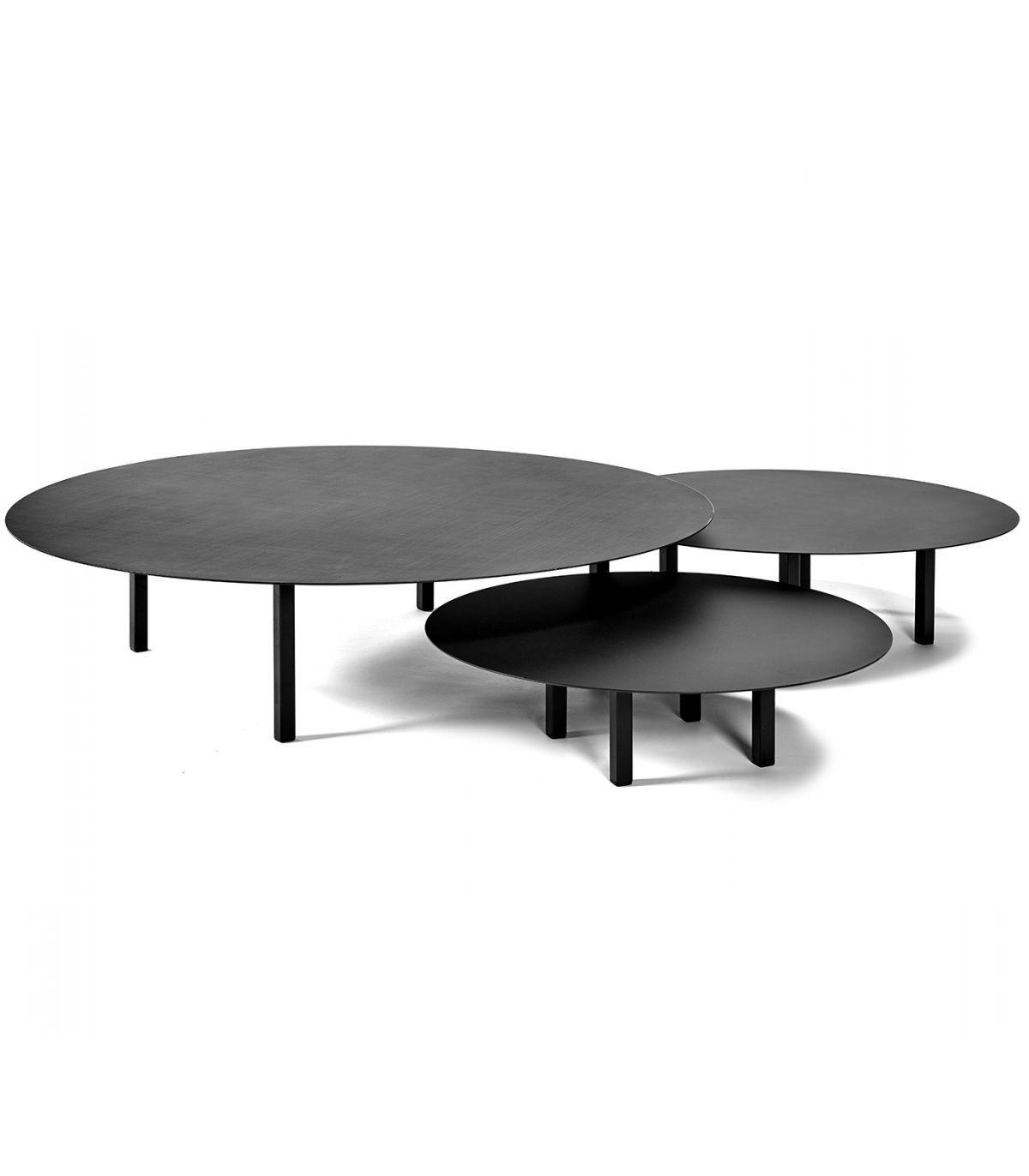 Table basse ronde métal noir Serax Mesure S