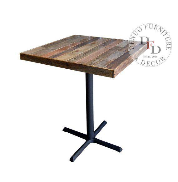 Table de bar en palette, LIVRAISON GRATUITE, Table de console, Table rustique, Table de petit déjeuner, Table de bar en bois de récupération, Patio, Pub, Café, Table à manger