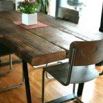 Table de cuisine en bois sombre Set Table de cuisine en bois noir Solid Best Of Dining And Ir ...