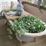 Table de jardin à construire soi-même - Idées artisanales de meubles de jardin
