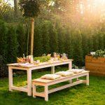Table de jardin construite par Richard - Tous les meubles