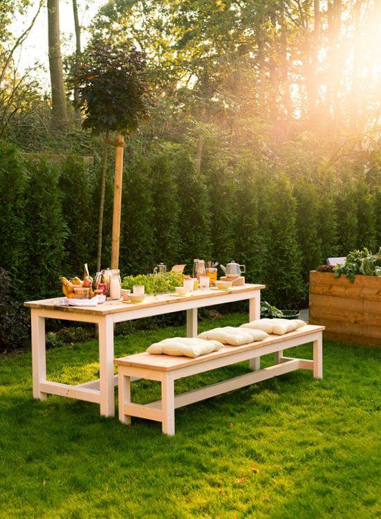 Table de jardin construite par Richard – Tous les meubles