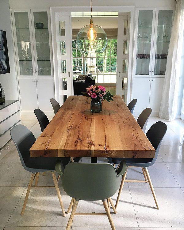 Table de salle à manger Table en bois massif Table en chêne sur mesure   Bois-Hambur …