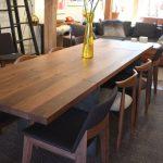 Table de salle à manger à rallonge charnière - Frêne blanc