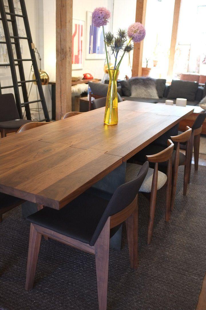 Table de salle à manger à rallonge charnière – Frêne blanc