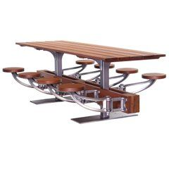Table de salle à manger avec siège pivotant