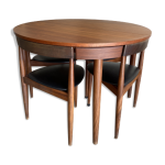 Table de salle à manger extensible par Hans Olsen (1952) pour Frem Røjle Møbe...
