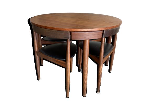 Table de salle à manger extensible par Hans Olsen (1952) pour Frem Røjle Møbe…