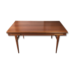 Table de salle à manger extensible scandinave Danoise en teck de Ejvind A.Johan...