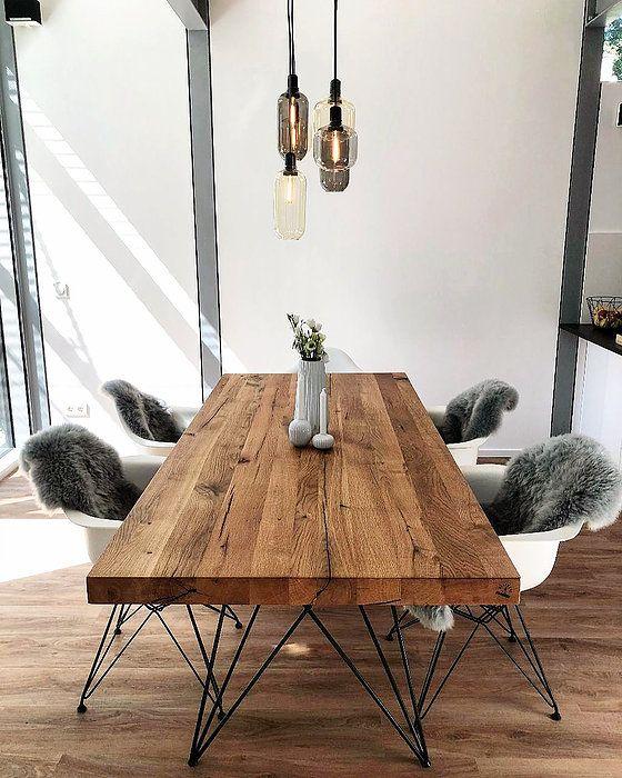 Tables de repas en bois de chêne du Holwerk-Hamburg
