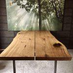 Tables de salle à manger - table en chêne bord d'arbre - un produit unique de dk_Moebelschmiede bei ...