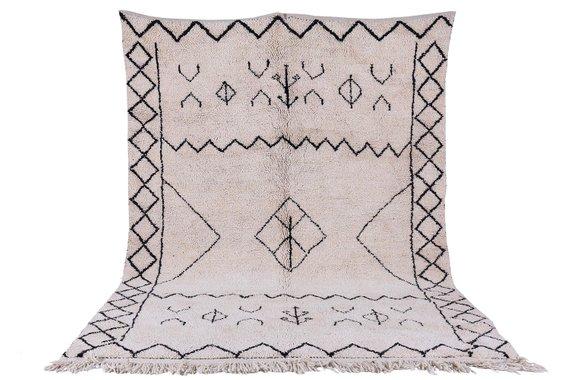 Tapis marocain de formats personnalisés, tapis de Beni ourain, toutes les tailles et Dimensions, un tapis berbère authentique, tapis de laine à la main, tapis Maroc, tapis d'Orient