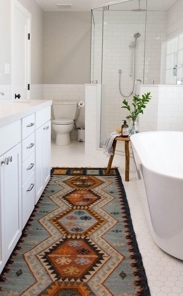 Tapis salle de bain sud-ouest avec salle de bain transitionnelle aussi tapis Bohemian Runne …