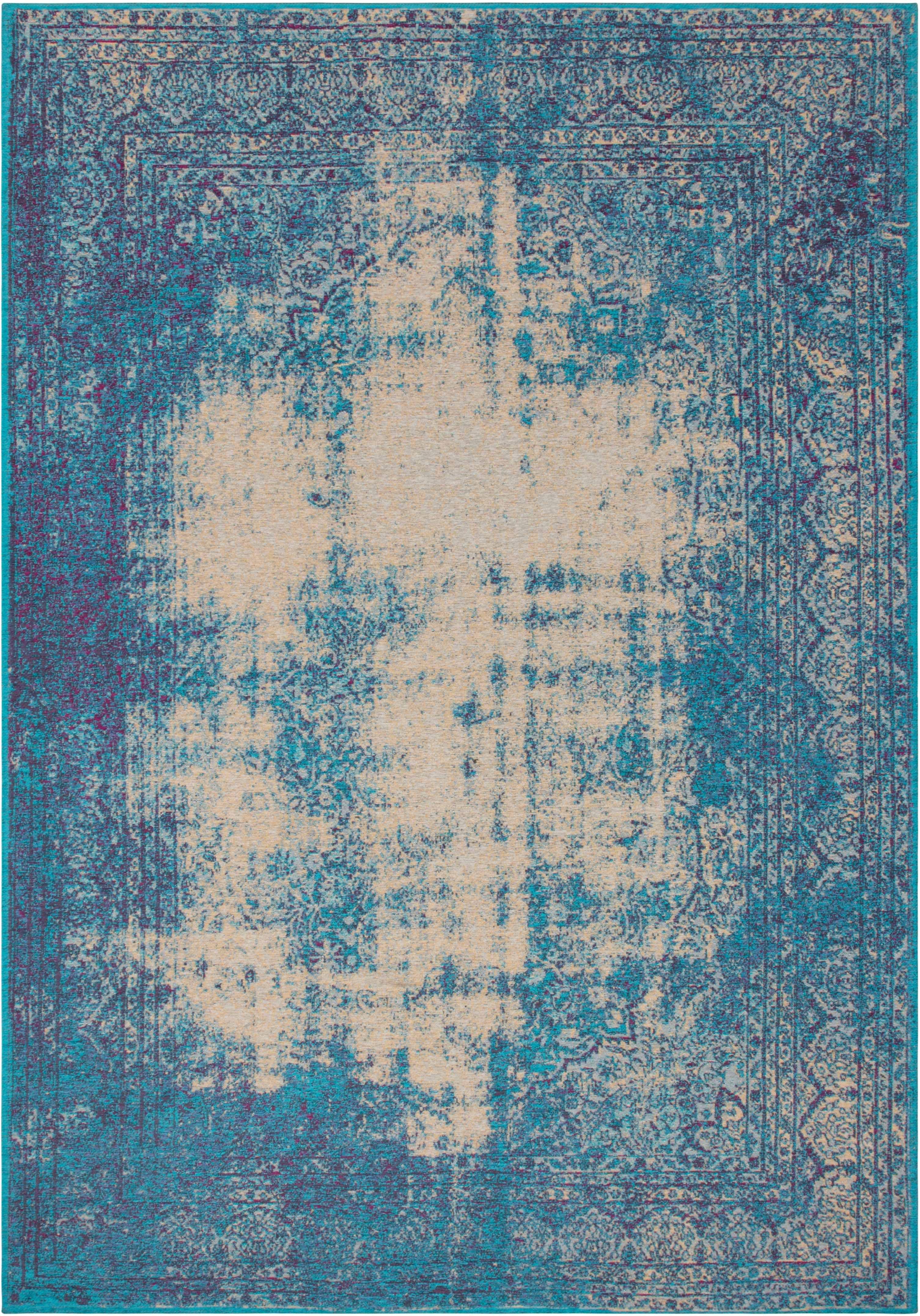Tapis tissé MONTSERRAT LITTLE BAY Turquoise | Lalee | Bleu