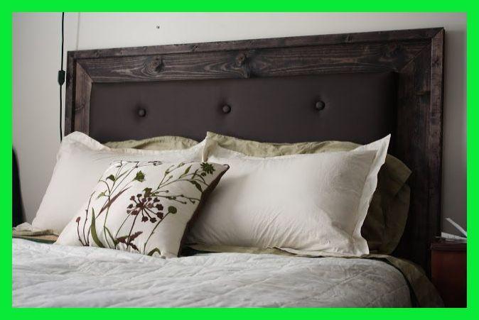 Tête de lit en bois noir >> Tête de lit simple rembourrée | Tête de lit en bois bricolage moderne | Refur …