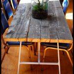 Timing parfait DIY comment faire une table en bois de récupération Jeff et moi étions juste ...
