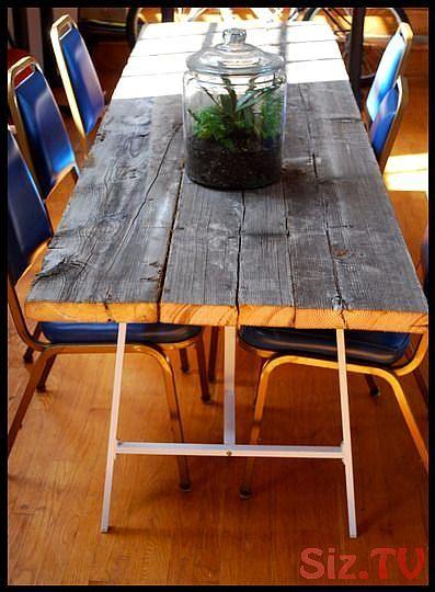 Timing parfait DIY comment faire une table en bois de récupération Jeff et moi étions juste …