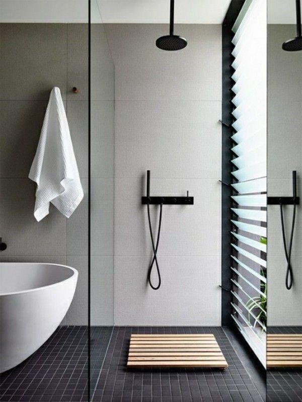 Tirez le meilleur parti de votre décor de salle de bain en noir et blanc