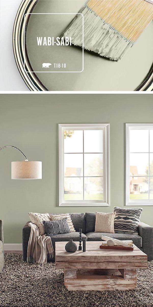 Transformez votre maison avec la teinte vert clair de Wabi-Sabi de BEHR Paint. Utilisez nat