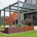 Triphaus - forme et couleur des métaux: toiture de terrasse