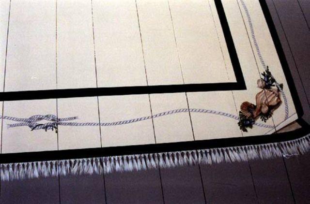 Un tapis salon peint qui n'est pas comme les autres
