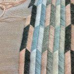 Un tel motif géométrique moderne dans des couleurs contemporaines dans un millésime .....