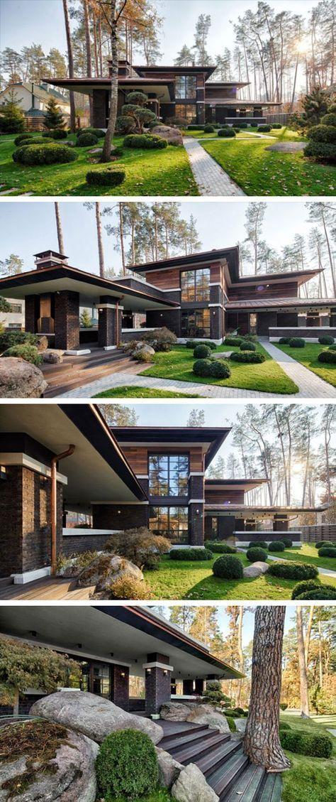 Une maison de prairie contemporaine par Yunakov Architecture à Kiev, Ukraine