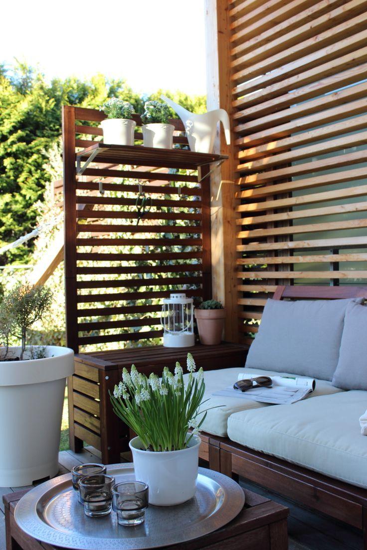 Une place sur la terrasse, le jardin, le mobilier de jardin, la décoration de patio, la musc … – Idées de jardin