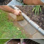 Utilisez des carreaux de ciment ou de pierre pour entourer votre jardin - la tondeuse à gazon peut couper à ras bord! > 25 +