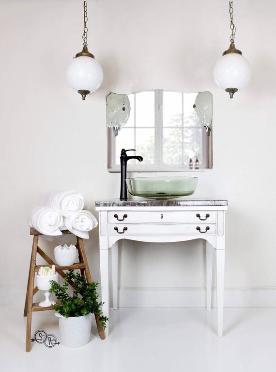 Vanité de salle de bain, Lavabo de ferme, Pays français, Ferme, Peinture pour, Armoire de salle de bain, Petite vanité