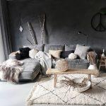 Vintage tapis Beni ourain marocain, Tapis Vintage beni ourain Runner, beni ourain -...