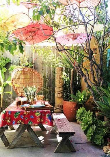 Visite au jardin: le petit paradis tropical de Kevin