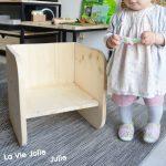 """Vous connaissez la chaise """"Montessori"""" ? Le cube évolutif ? Cette petite pépit..."""