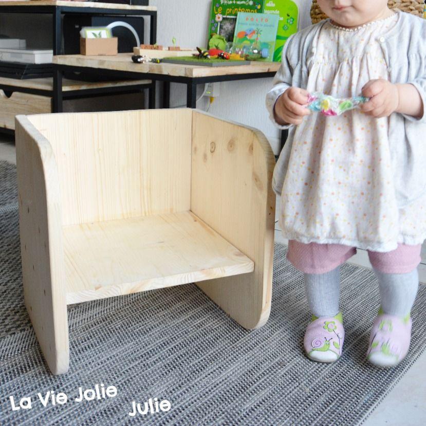 """Vous connaissez la chaise """"Montessori"""" ? Le cube évolutif ? Cette petite pépit…"""