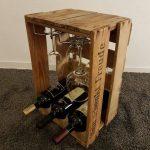 Wine Bar II - casier à vin de vieilles boîtes à vin