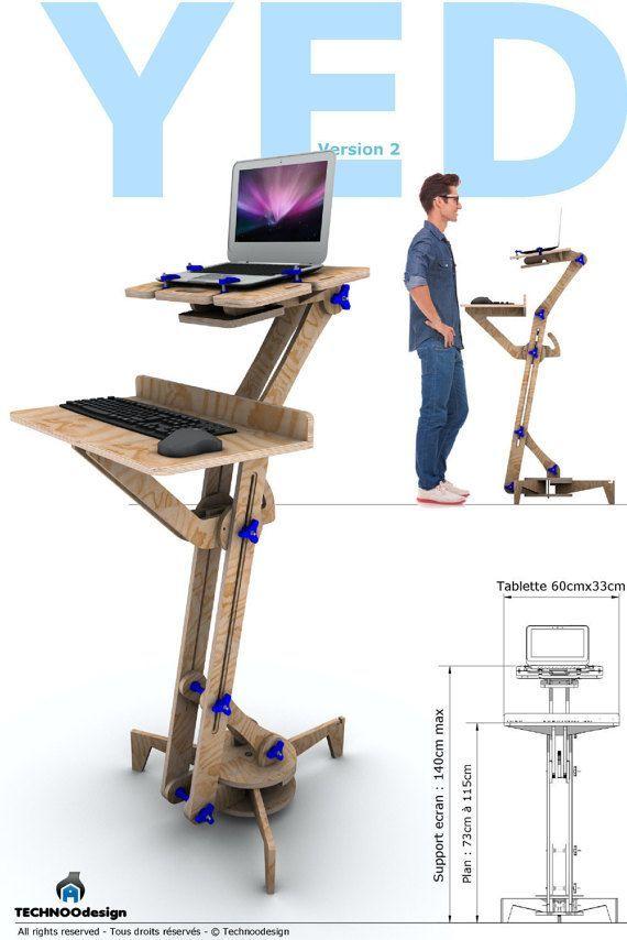 YED Bureau debout Ergonomie Multi-positions par TECHNOOdesign