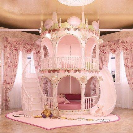 acheter Chambre Princesse Fille Enfants de Diapositives Lit, belle Unique Rose C…