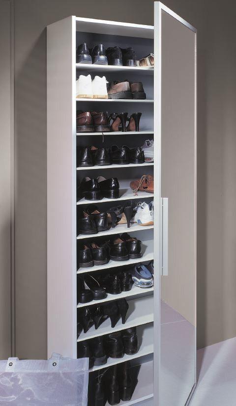 armoire à chaussures miroir porte 1